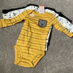 NWT 3pack long sleeve onesies
